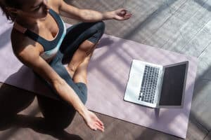 Video online training hatha yoga